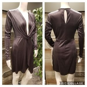 NEW! Lush Silver Twist Front Dress size small